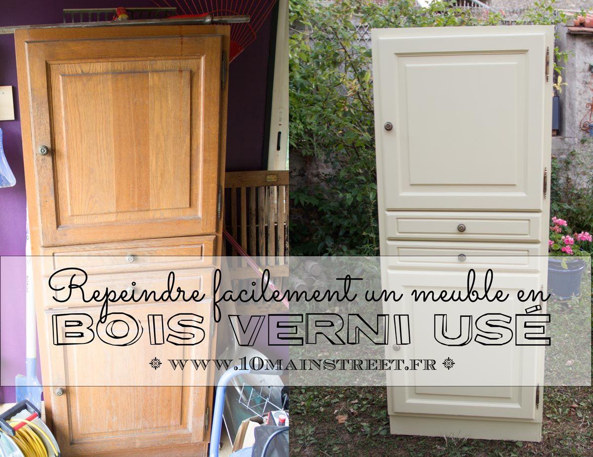 Comment Decaper Une Chaise Vernis rénover un meuble en bois verni usé : une armoire pour le