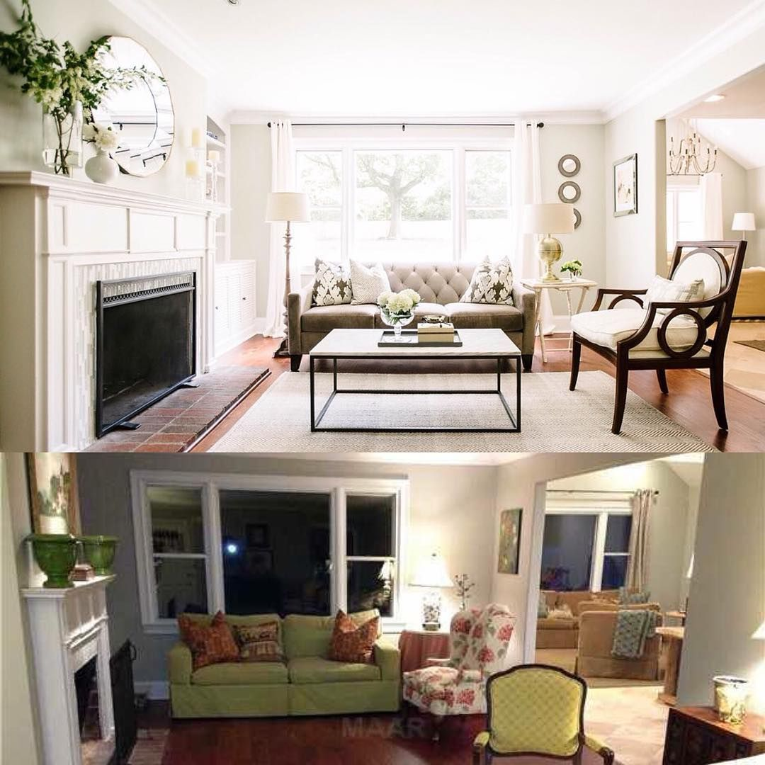 Thought It Might Be Fun To Share A Little Before And After Of My Simple Little Living Room Design Inspiration Design
