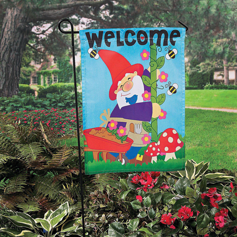 Gnome In Garden: $8.50 For The Kid's Garden/playhouse Gnome Garden Flag