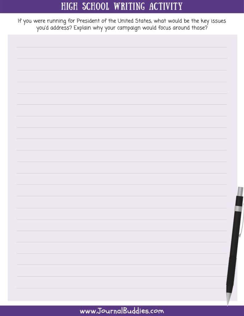 High School Writing Worksheets Writing Worksheets High School Writing Printable Writing Prompts [ 1024 x 792 Pixel ]