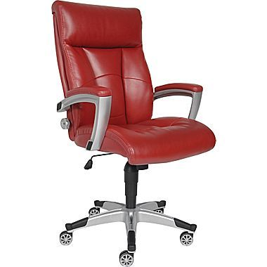 sealy roma bonded leather executive chair, red $199.99 | home