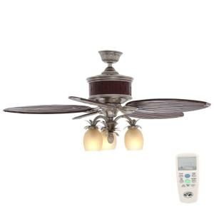 Hampton Bay Colonial Bamboo 52 In Indoor Pewter Ceiling Fan With