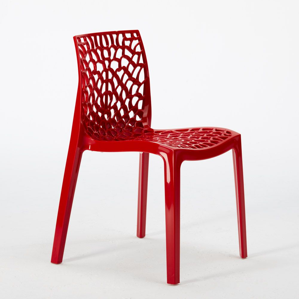 Polypropylene Design Chair Made In Italy For The Kitchen Restaurant Gruvyer Chaise De Jardin Chaise Chaise Transparente