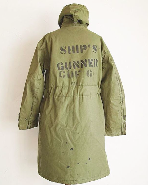 U.S. NAVY COAT, PARKA, WINTER N-1. FOR WATERPROOF COLD PROTECTION ...