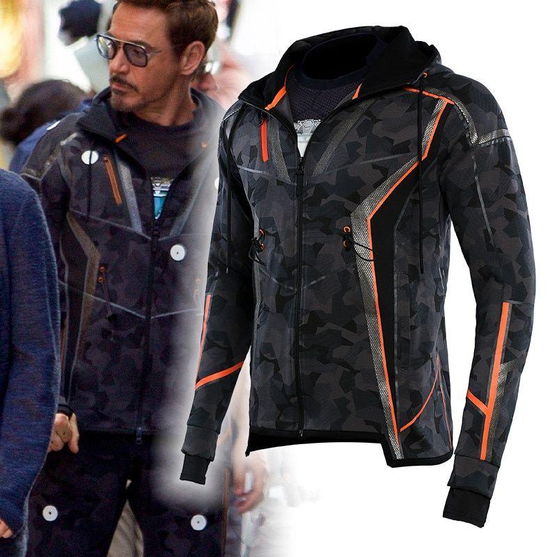 Avengers Infinity War Ironman Tony Stark Cosplay Costume Gift For Four Seasons Dorlings Tony Stark Cosplay Winter Jacket Men Parkas Camouflage Hoodie