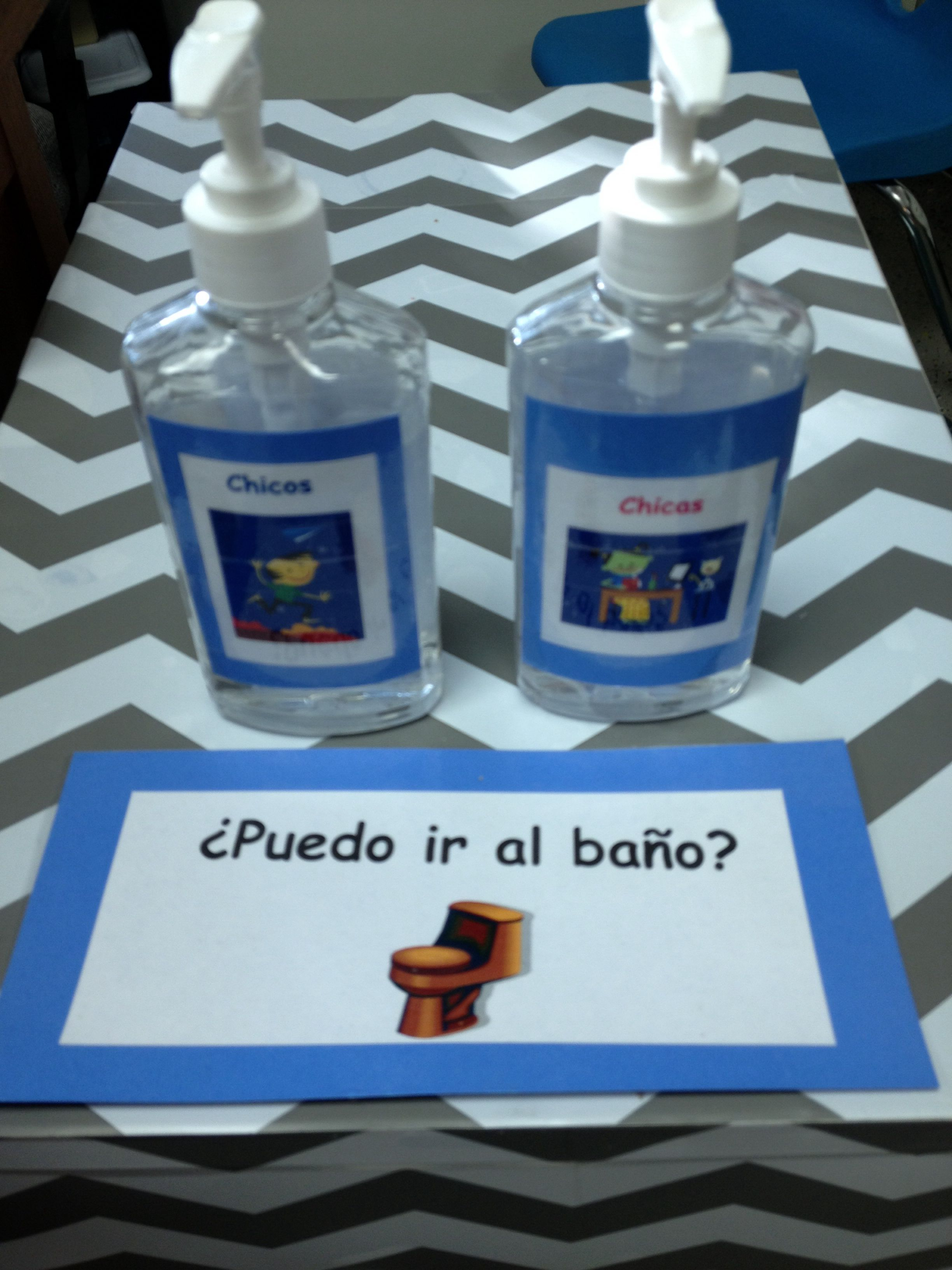 Bathroom Pass For Spanish Students Ask In Spanish And Put The
