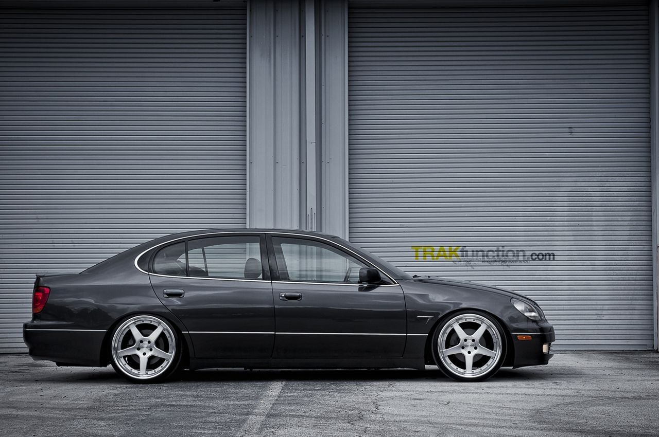 ADV1 Custom Wheels and Lowered Suspension on Lexus GS | Car