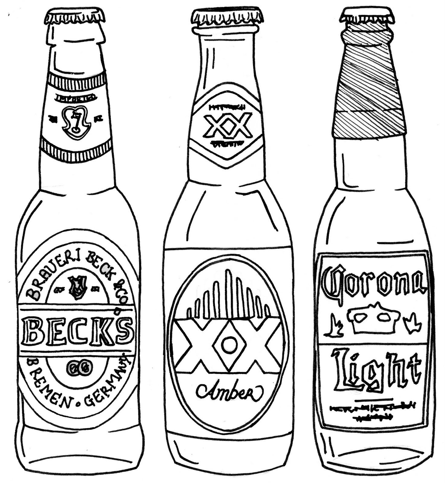 Line Drawing Of Bottles