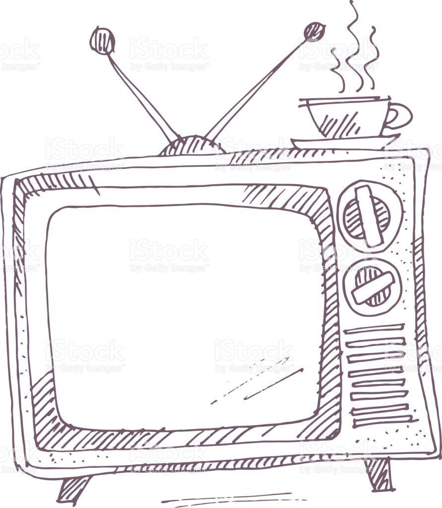 Resultado De Imagem Para Tvs Antigas Desenho Tvs Desenho Ideias