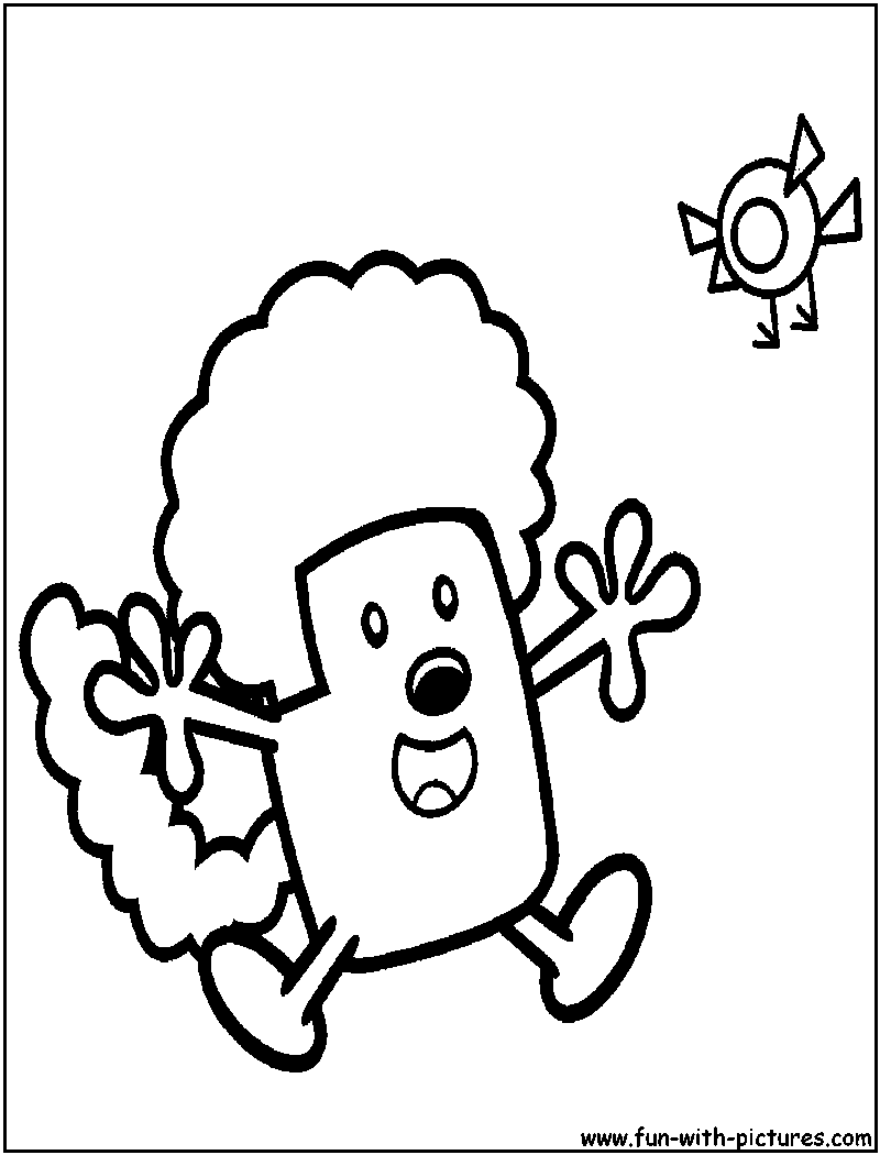 Wow wow wubbzy Wacky wig Coloring Page | Nickelodeon Coloring Pages ...