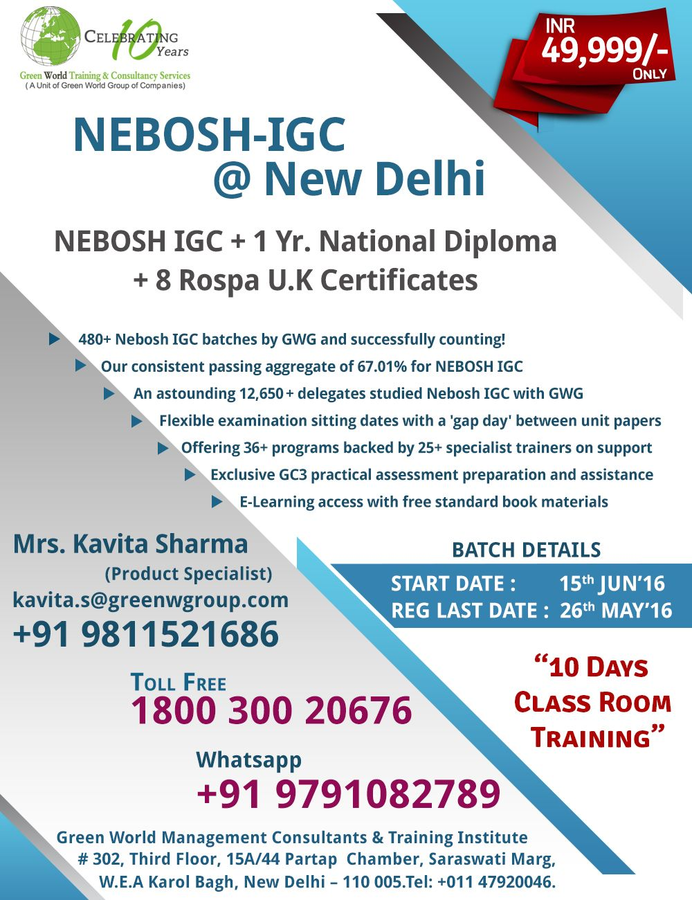 Pin By Green World On Nebosh 08 1 Free Certification Course Training