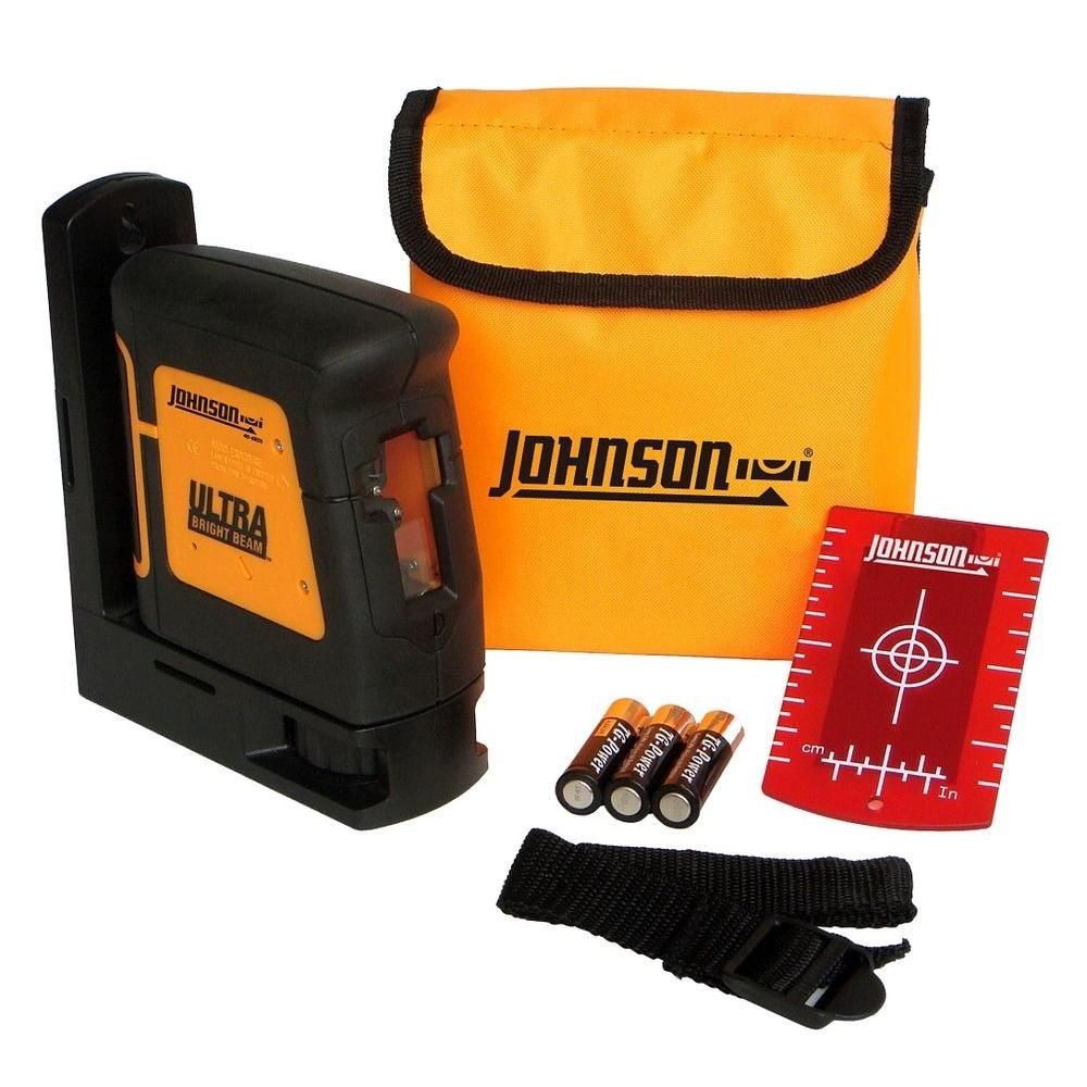 Johnson Self Leveling High Powered Cross Line Laser Level Products Line Home Depot Fashion