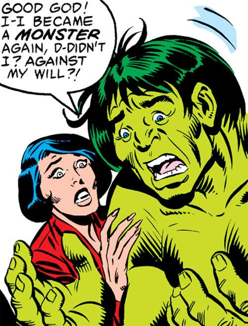 Kate Waynesboro of SHIELD (Hulk character) (Marvel Comics) and an intelligent Hulk