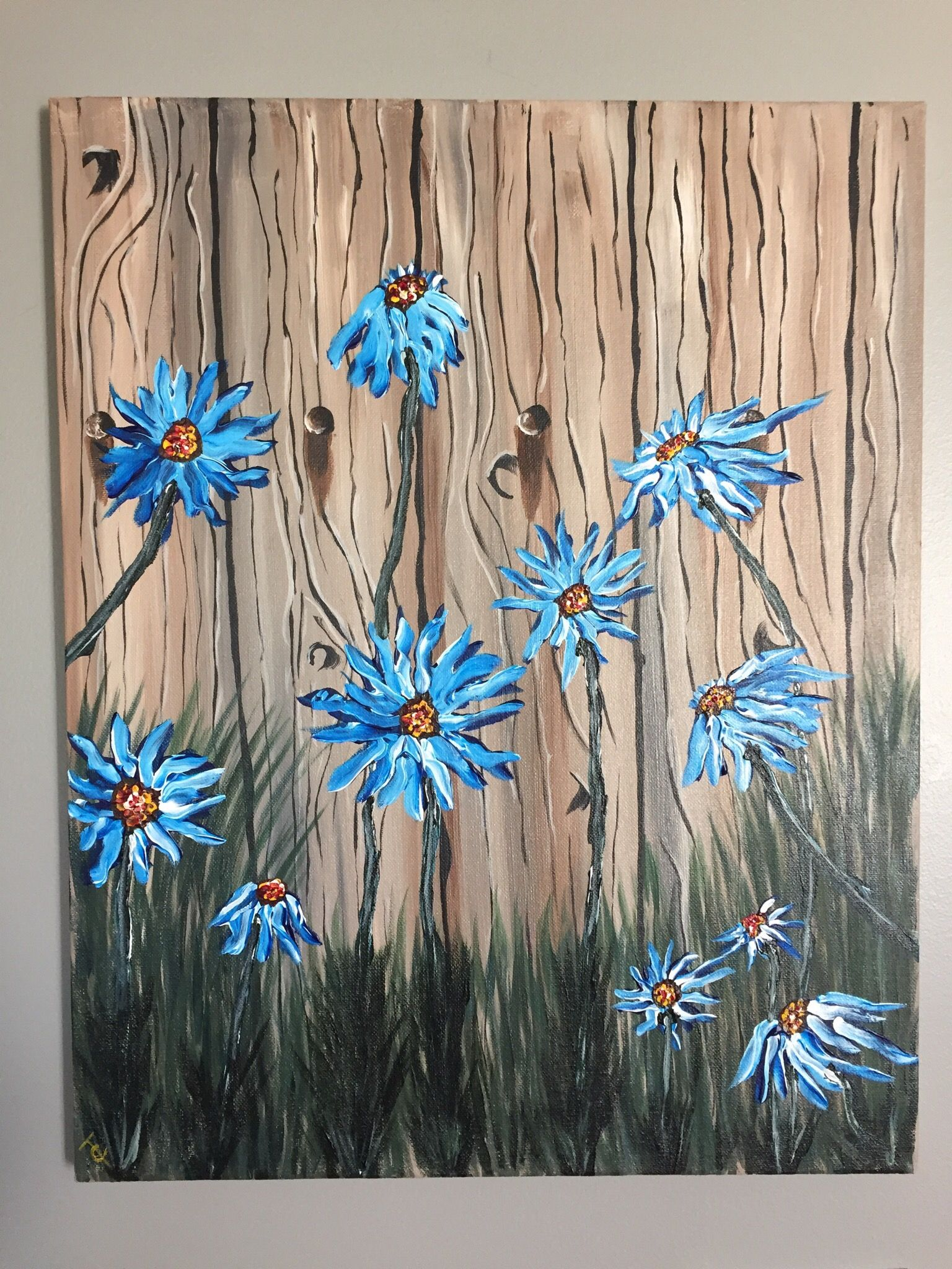 You tube tutorial from painting with jane acrylic for Step by step acrylic painting flowers for beginners