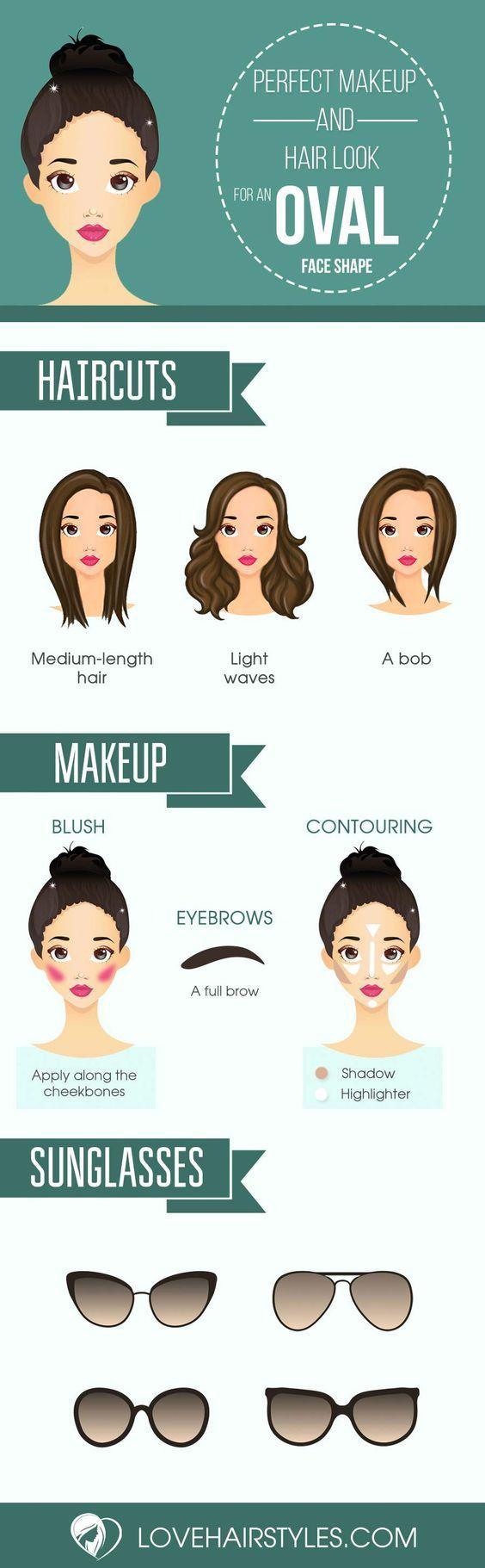 Hair and makeup for oval face beauty makeup pinterest makeup