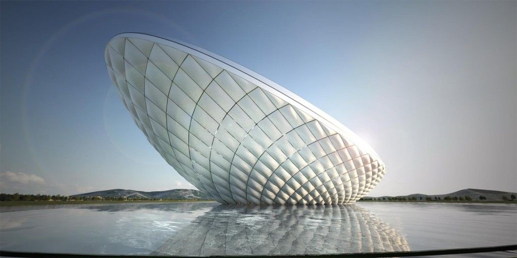 The ARC- River Culture Multimedia Theater Pavilion by Asymptote | Archifan Blog