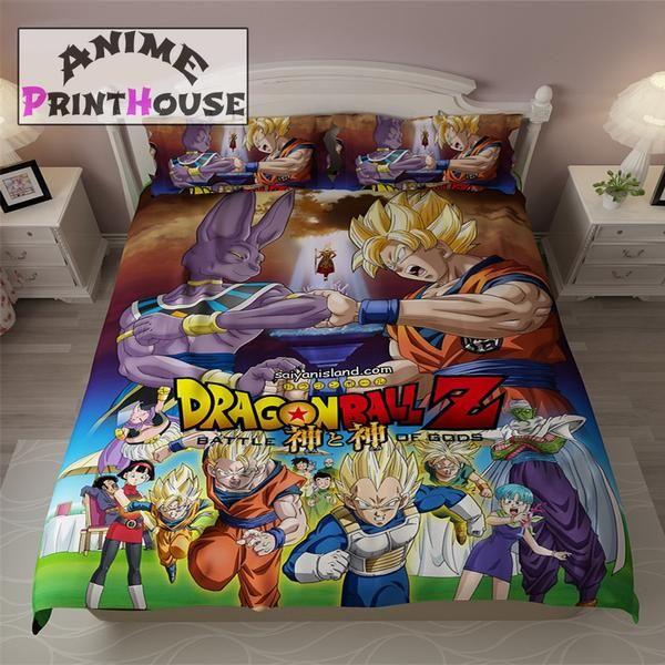 Edredon Anime.Dragon Ball Z Blanket Bed Sheets Covers Dragon Ball