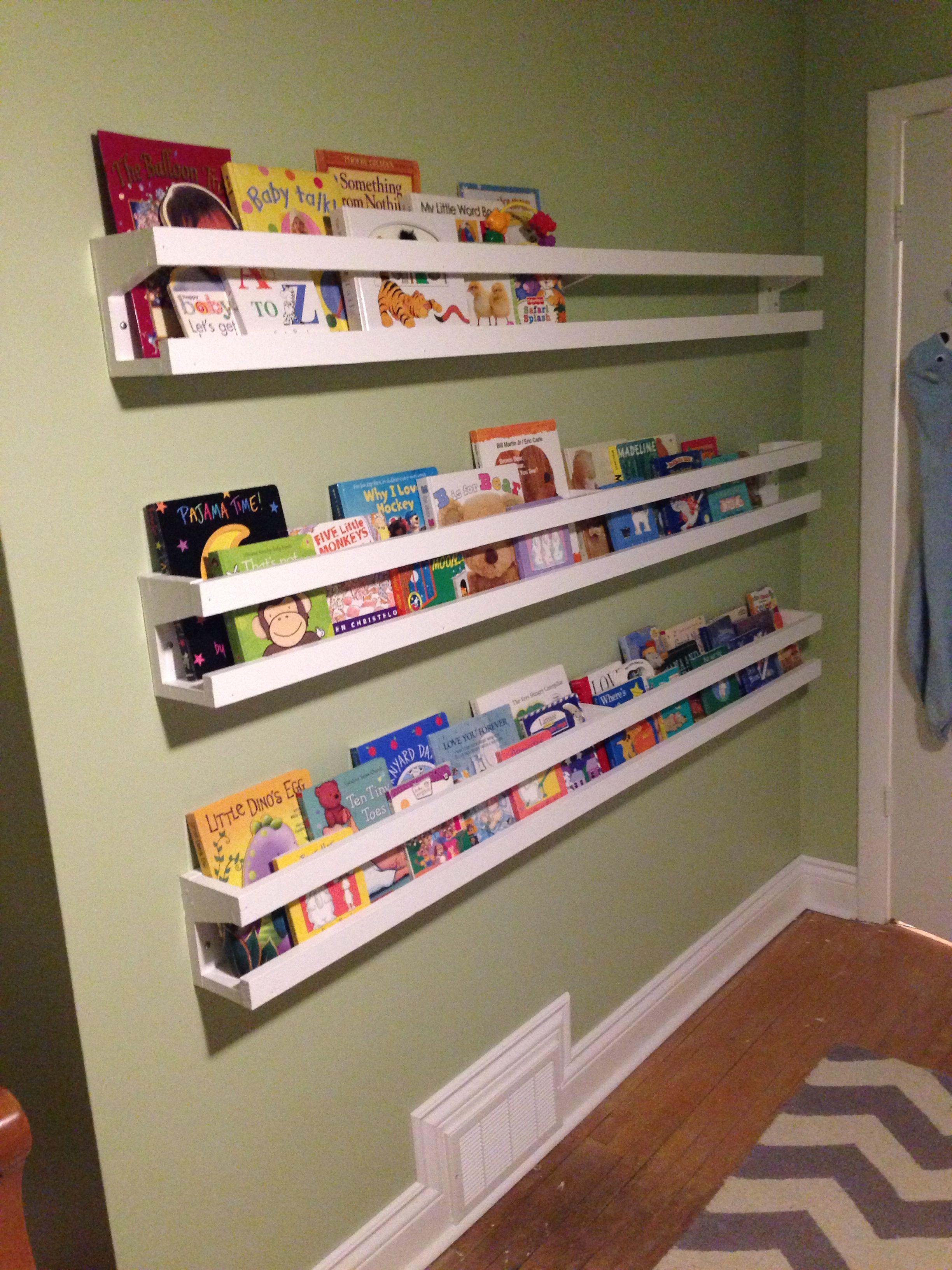 Low Profile Book Shelves Baby Girl Room Shelves Bookshelves