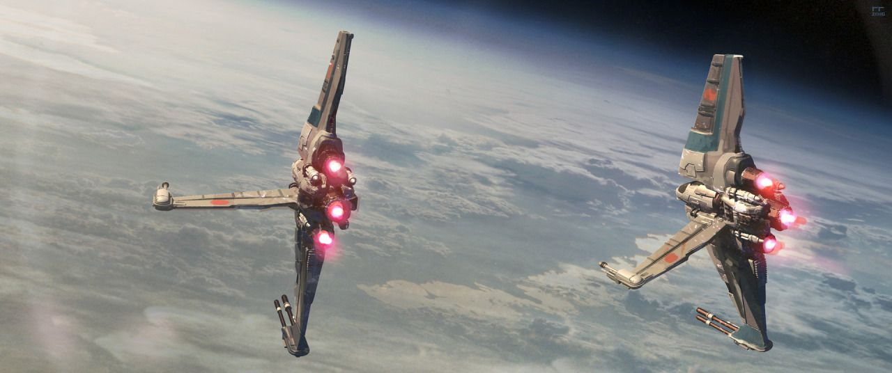D-wing ILM challenge the Ride - by Roberto Robert More selected entries for the ILM Star Wars competition on my tumblr [here]