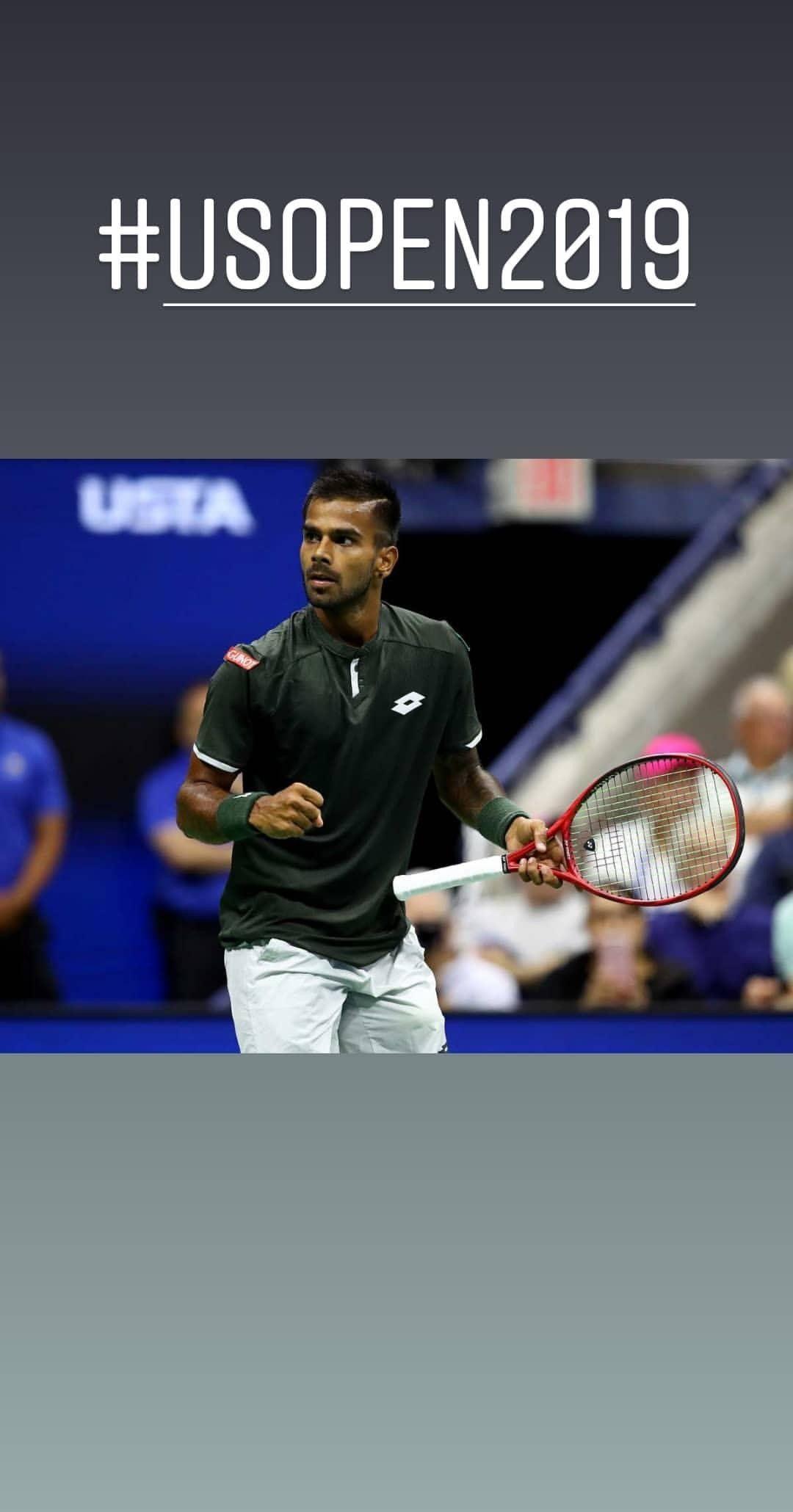Sumitnagal Becomes The First Indian To Win A Set Against Rogerfederer Usopen Usopen2019 Sumit Nagal Won Many Hearts Wel Roger Federer Grand Slam Tennis