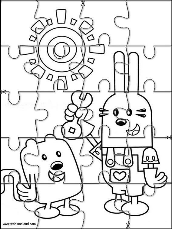 Aktivitäten für Kinder. Puzzlespiele Wow Wow Wubbzy 14 ...