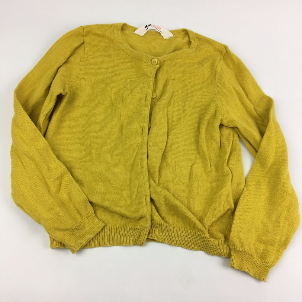 H M 2-4 Years Mustard Yellow Autumn Winter Soft Cardigan Sweater Top 2T 3T  4T 3231219d2