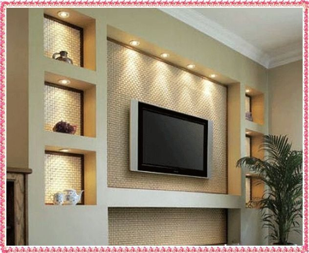 Tv wall unit ideas gypsum decorating ideas 2016 drywall for Living room tv unit designs