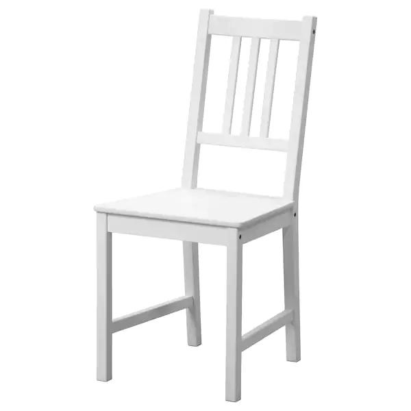 STEFAN Sedia bianco | White kitchen chairs, White wooden