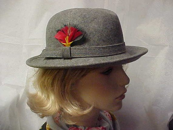 Grey wool Betmar fedora with a colorful side group of by designer2, $24.00