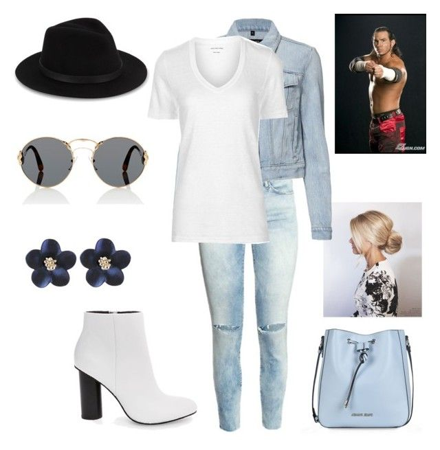 """""""Matt Hardy: you wear his favorite semi casual outfit"""" by dpclma ❤ liked on Polyvore featuring Prada, J Brand, Saks Fifth Avenue, Étoile Isabel Marant, Steve Madden and Armani Jeans"""