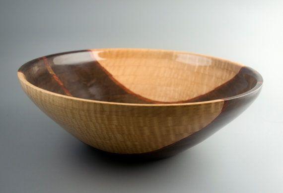 TBG Segmented Wood Bowl in Oregon Black Walnut by fostersbeauties