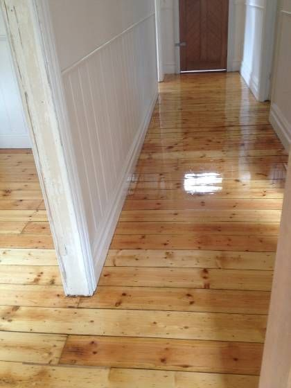 March 2014 Baltic Pine With Semi Gloss Poly Finish With Images House Flooring Pine Wood Flooring Wood Floors