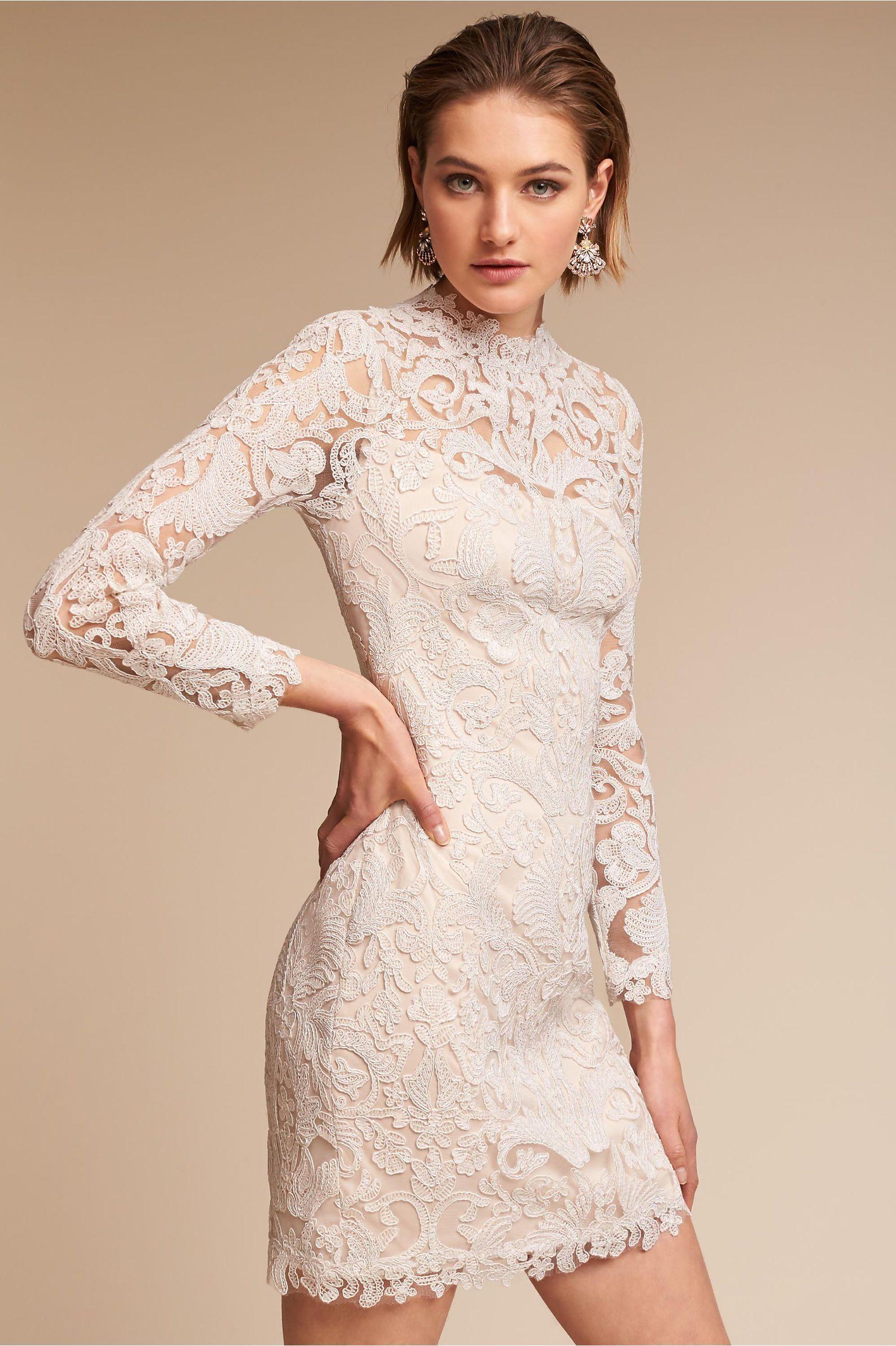 BHLDN\'s Tadashi Shoji Darling Dress in Ivory/petal   Pinterest