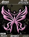 Pink Butterfly Car Decal #pinkrangerovers