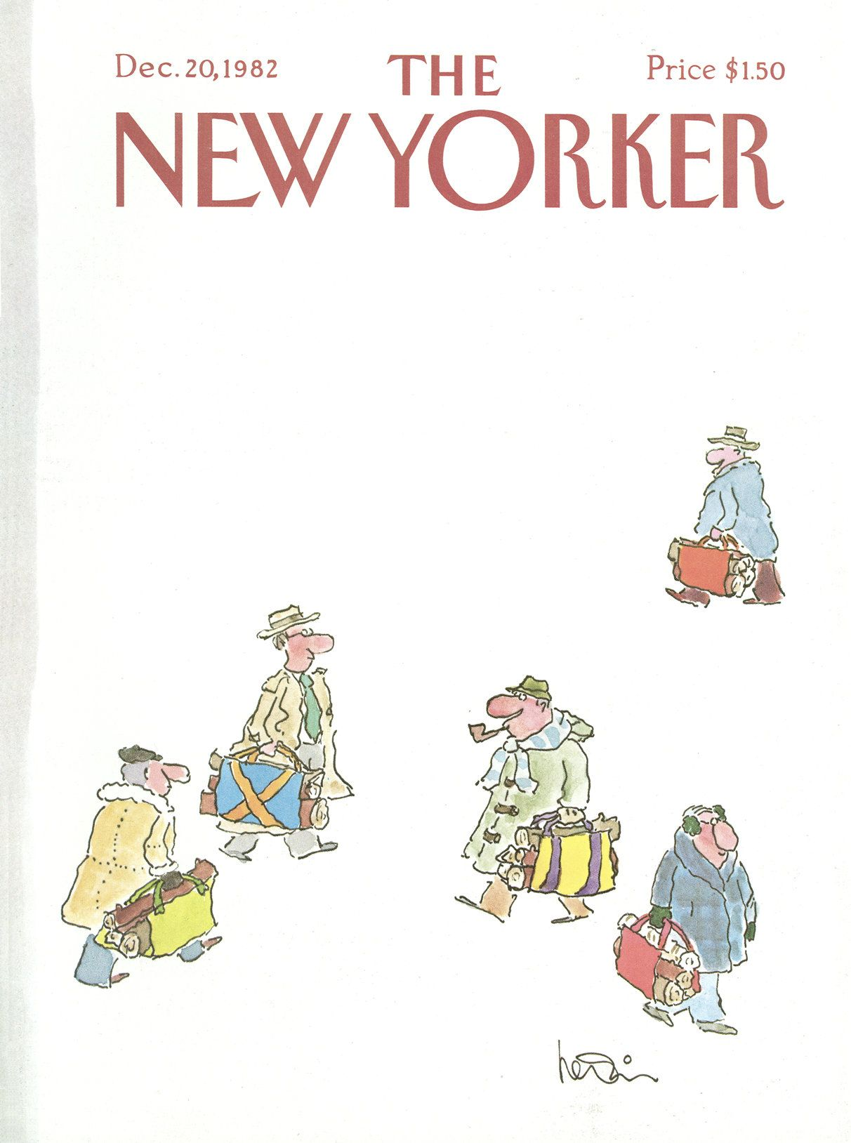 The New Yorker - Monday, December 20, 1982 - Issue # 3018 - Vol. 58 - N° 44 - Cover by : Arnie Levin
