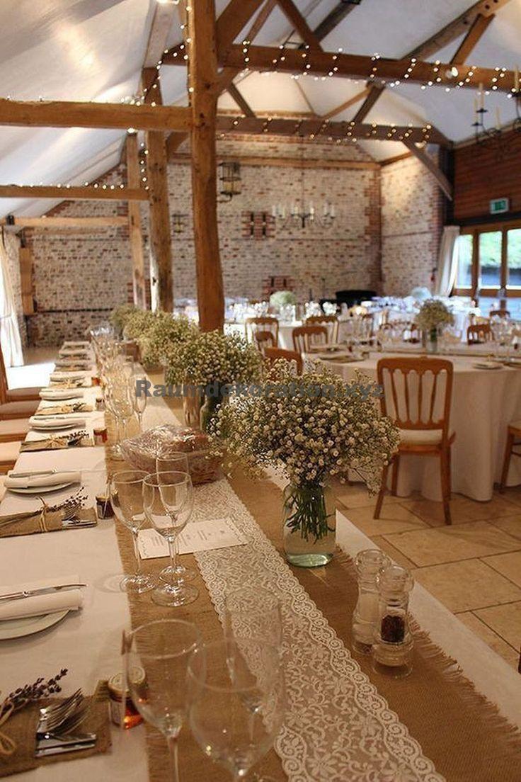 Tischdeko Hochzeit – Jute-Tischdekorationen für rustikale Hochzeit (59) #deko … – Brautkleider