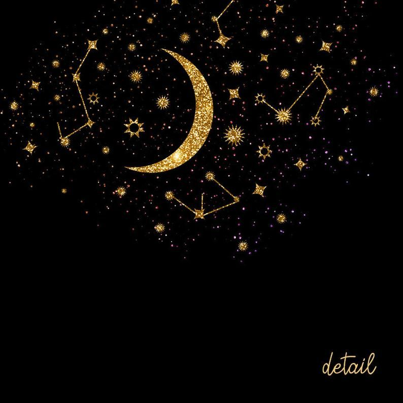 Gold Stardust Clipart Gold Stars Clipart Stars Overlays Magic Dust Night Sky Galaxy Clipart Star Clipart Gold Star Moon Clipart Png In 2021 Star Overlays Black And Gold Aesthetic Star Clipart