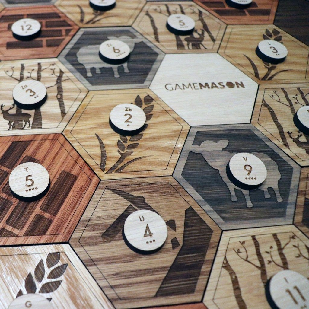 Deluxe Wooden Catan Set (White Oak with Insets), 56