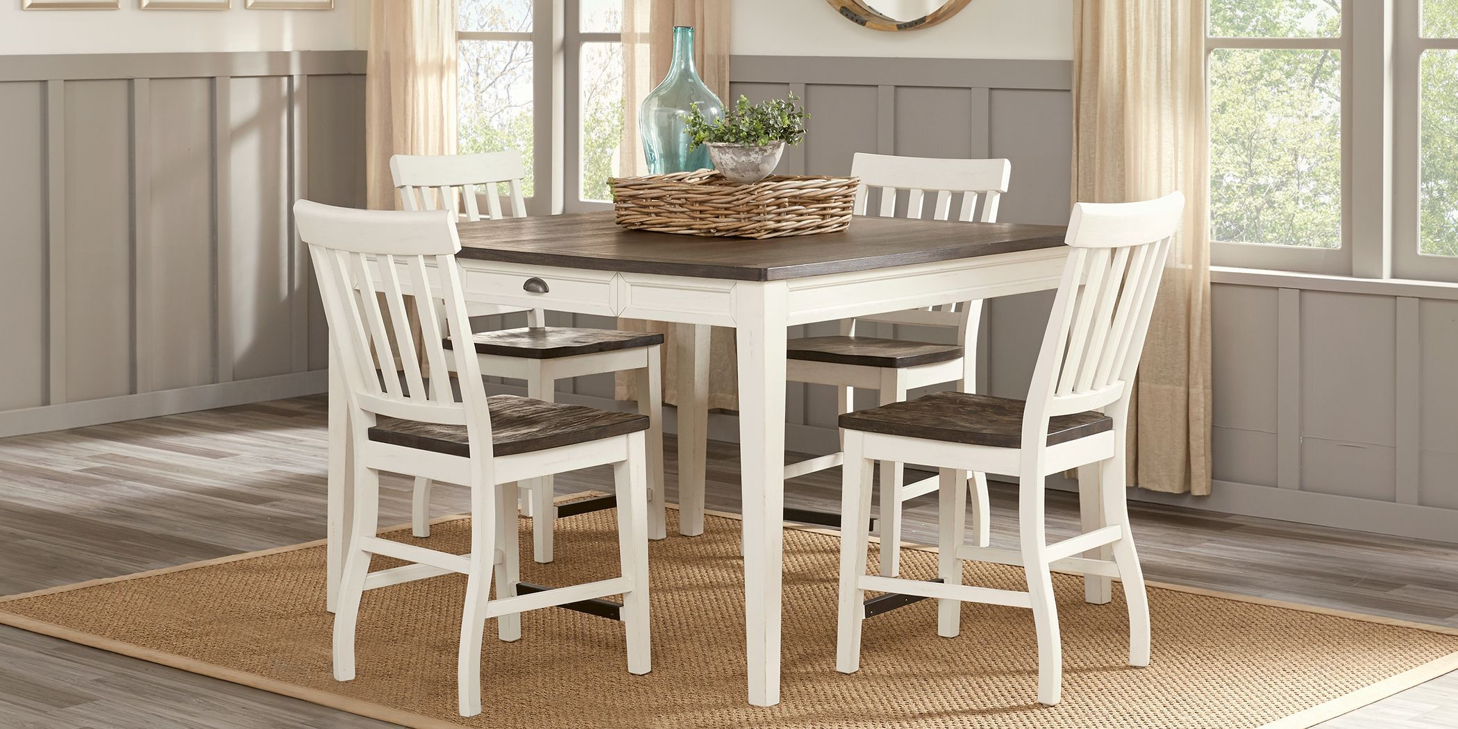 Keston White 5 Pc Square Counter Height Dining Room Rooms To Go Rooms To Go Furniture Dining Room Essentials Dining Room Sets