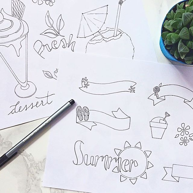 Ready? Here's August the monthly treat! Two coloring pages ...