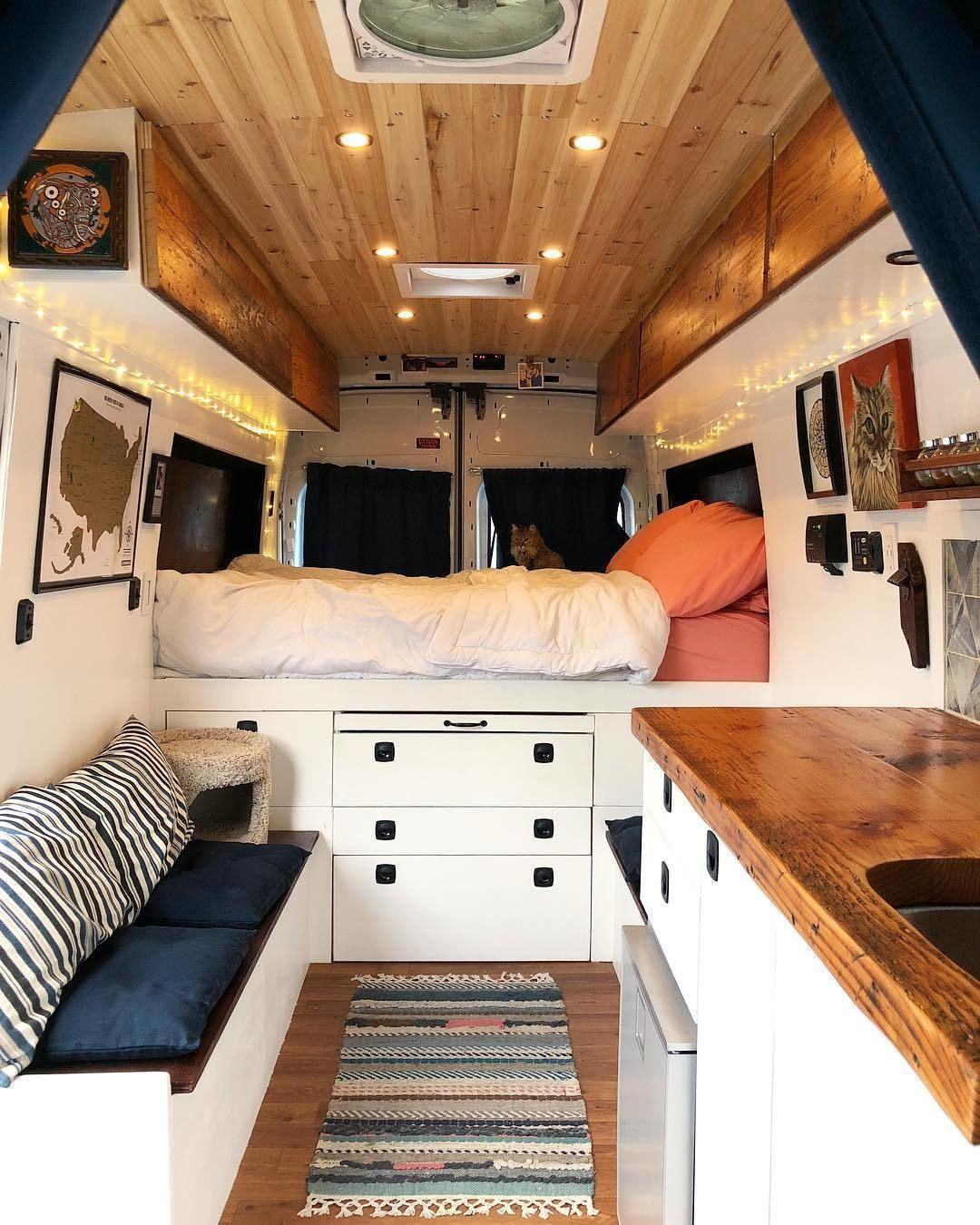 A Clean Van Makes Us So Happy Living In A Small Space Things Can Get Messy In Minutes Clothe Ford Transit Camper Transit Camper Conversion Transit Camper