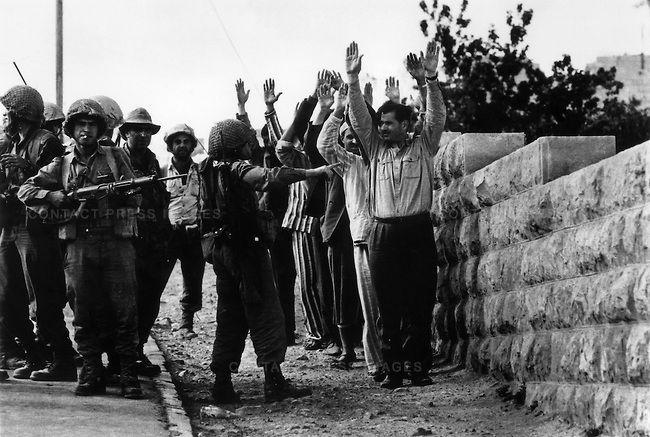 Jordanian Sol Rs Captured By Israeli Forces Six Day War Near Jerusalem Israel June 1967