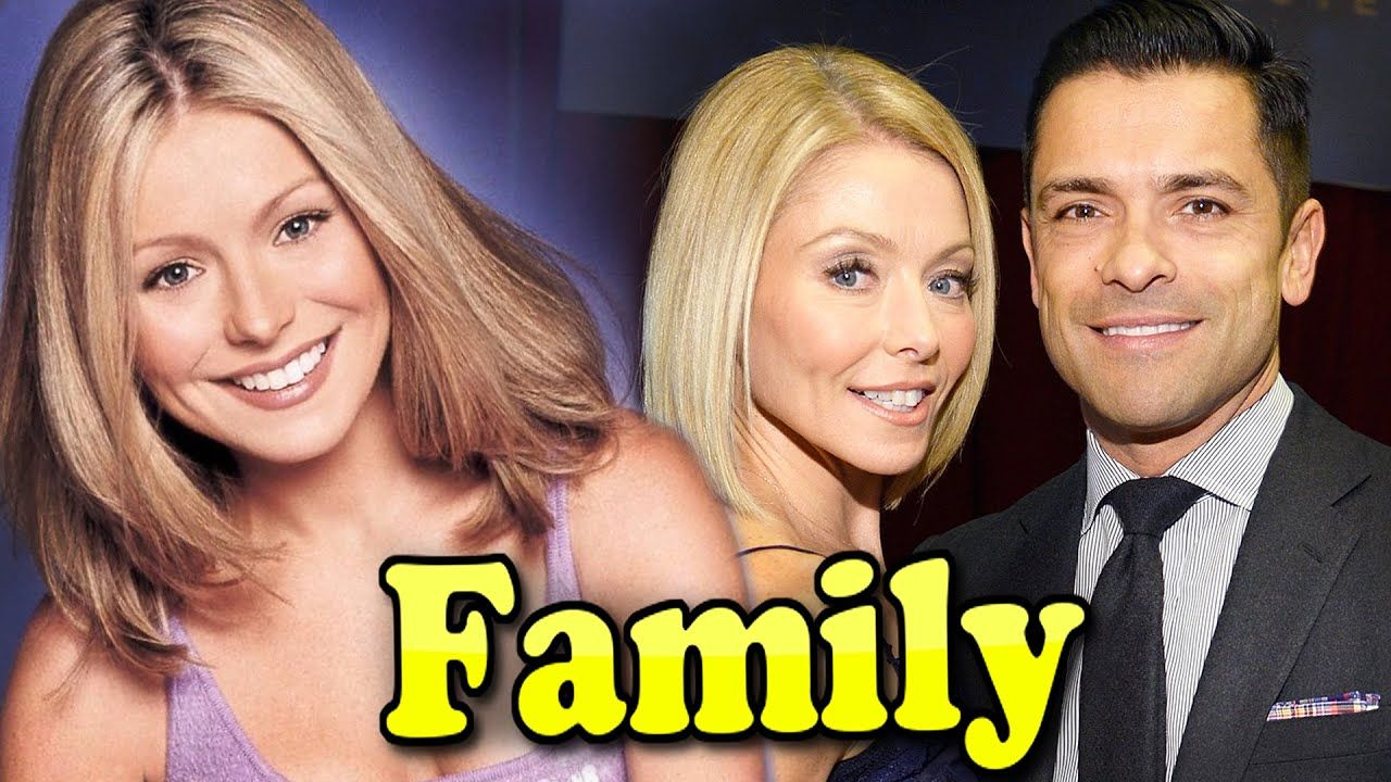 Kelly Ripa Family With Daughter Son And Husband Mark Consuelos 2020 In 2020 Kelly Ripa Family Kelly Ripa Celebrity Couples