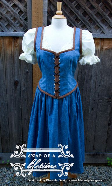Belle Once Upon A Time Peasant Dress A Inspired Costume ...