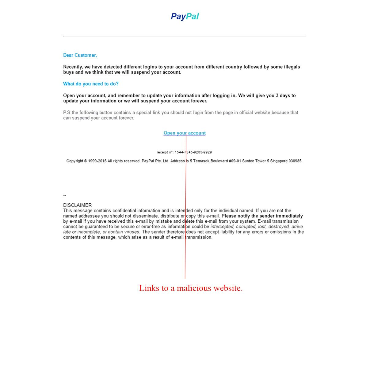 PayPal Account Update Email Scam - http://www.mailshark.com.au/recent-security-news/paypal-account-update-email-scam-24291
