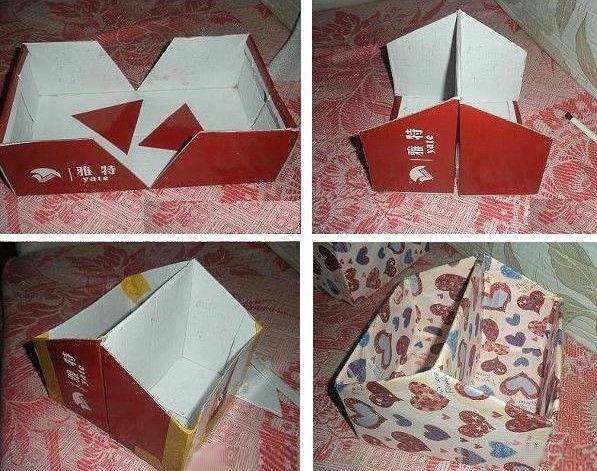 Como hacer manualidades con caja de cart n organizadores - Manualidades con cajas ...