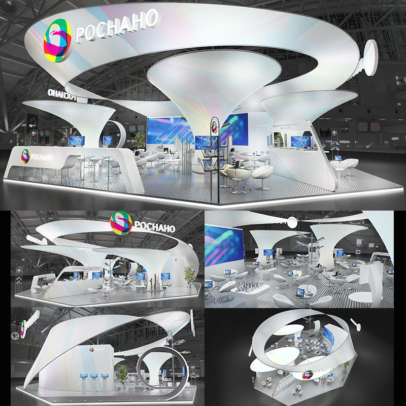 Exhibition Stand Circle : Circle in motion trending tradeshow exhibit design