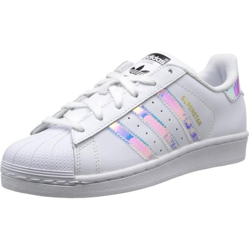 Superstar Junior AQ6278 White Hologram Iridescent Women'