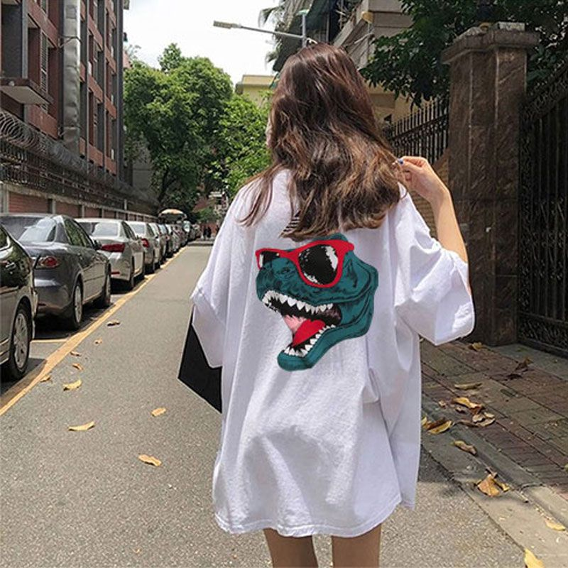 2019 summer oversize Women T shirts harajuku Short Sleeve ...