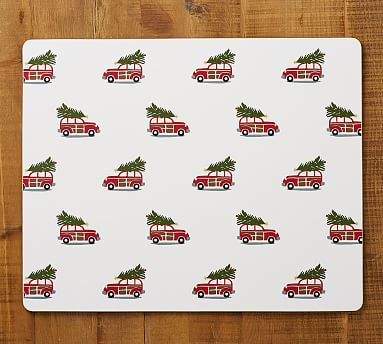 Woody Car Rectangle Cork Placemat Custom rugs, Pottery